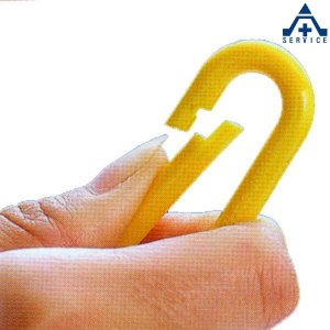プラスチックチェーン用 ワンタッチジョイント 黄色 (1個)ワンタッチ式連結用フック イエロー プラチェーン用|anzenkiki