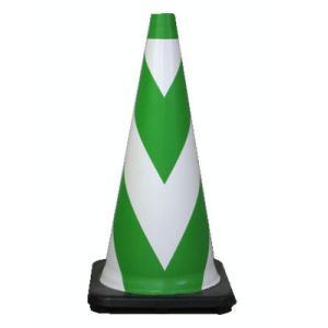 ラバーコーン 5本セット R-700G 緑白 (夜光反射型) 高さ70cm anzenkiki