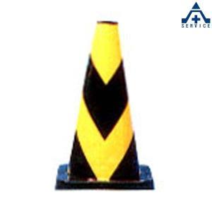 セフティーコーン PVC-450Y (黒地 黄反射)高さ 45cm  カラーコーン パイロン セフティコーン セーフティコーン スコッチコーン anzenkiki