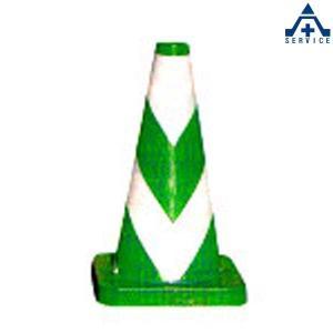 セフティーコーン PVC-450G (緑地 白反射)高さ 45cm  カラーコーン パイロン セフティコーン セーフティコーン スコッチコーン anzenkiki