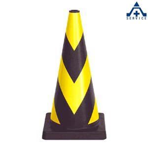 セフティーコーン PVC-700Y (黒地 黄反射)カラーコーン パイロン セーフティコーン セフティコーン スコッチコーン anzenkiki