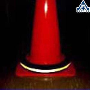 光るコーンリング 2kg  カラーコーン パイロン セフティコーンセーフティコーン ゴム製コーン コーンベッド 反射材付 重石|anzenkiki