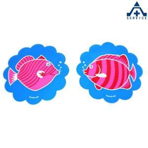 さかなちゃん ステッカー ピンク (2枚組)シール 反射 魚 水族館 海の生き物 海洋生物 デザインステッカー anzenkiki
