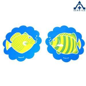さかなちゃん ステッカー グリーン (2枚組)シール 魚 水族館 海の生き物 海洋生物 デザインステッカー anzenkiki