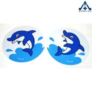 イルカくん ステッカー (2枚組)シール 反射 いるか 水族館 海の生き物 海洋生物 デザインステッカー anzenkiki