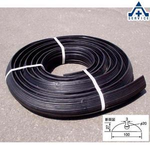 ゴム製 コードプロテクター 10m (一般コード用)ケーブル保護 道路 路上 工場 配線保護|anzenkiki