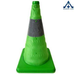 伸縮式 三角コーン41cm (グリーン)(メーカー直送/代引き決済不可)カラーコーン パイロン セフティコーン セーフティコーン セフティコーン 自在コーン ス|anzenkiki