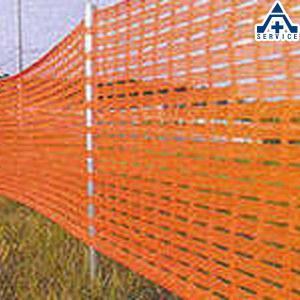 オレンジネット (高さ1.5m×幅50m)ネットフェンス ネットガード 仮囲いネット工事用仮設ネット メッシュフェンス|anzenkiki