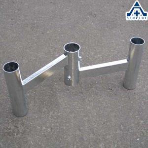 カーブミラー用 W金具 76.3mm用 メッキ仕様  2面鏡 二面鏡 ミラー取付金具|anzenkiki