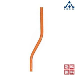 カーブミラー用 ポール (上曲り)76.3×3.2×4000mm (個人宅発送不可/代引き決済不可)亜鉛メッキ 静電粉体塗装 オレンジポール anzenkiki
