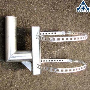 カーブミラー用 電柱取付金具 76.3mm用  ステンレスミラー アクリルミラー ステンレス製ミラー アクリル製ミラー 工事現場 取付金具|anzenkiki