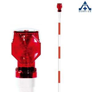 当社オリジナル ソーラー スノーポール (3m)SS40-1型 (φ38×3000mm)(個人宅発送不可/代引き決済不可)視線誘導 除雪ポール 封入レンズ LEDライト|anzenkiki