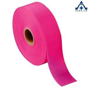 マークテープ ピンク 30mm巾×100m巻  除雪用 測量用品 土木用品 マーキングテープ 目印テープ ピンクテープ|anzenkiki