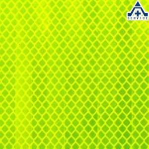 カプセルプリズム型高輝度反射シート PX8423(蛍光黄緑色) NETIS登録済 サイズ:300mm×300mm|anzenkiki