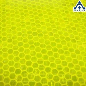 エイブリー デニソン 夜光反射シート 蛍光イエロー色 W-6513 (10×10cm)5枚セット (ネコポス対応/代引き不可)黄緑 高輝度 マイクロ プリズム反射 反射材|anzenkiki