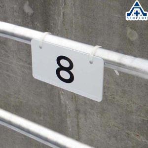 当社オリジナル 駐車場 番号プレート No.1〜10 10cm×20cm  ナンバープレート 駐車場表示板 番号表示板|anzenkiki