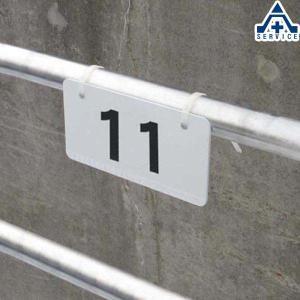 当社オリジナル 駐車場 番号プレート 10cm×20cm No.11〜20  ナンバープレート 駐車場表示板 番号表示板|anzenkiki