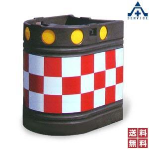 景観色 ロングクッションドラム CDL-B802R (封入レンズ反射型)(メーカー直送/代引き決済不可)衝突 衝撃 緩衝剤 道路 中央分離帯 セーフティドラム 保安用|anzenkiki