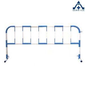 カラーパイプバリケード CB-1 (青地白反射)(メーカー直送/代引き決済不可)駐車場 駐輪場 区画整備用品 区画スタンド パイプスタンド|anzenkiki