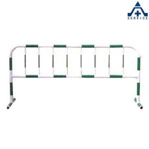 カラーパイプバリケード CB-3 (白地緑反射)(メーカー直送/代引き決済不可)駐車場 駐輪場 区画整備用品 区画スタンド パイプスタンド|anzenkiki