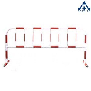 カラーパイプバリケード CB-4 (白地赤反射)(メーカー直送/代引き決済不可)駐車場 駐輪場 区画整備用品 区画スタンド パイプスタンド|anzenkiki