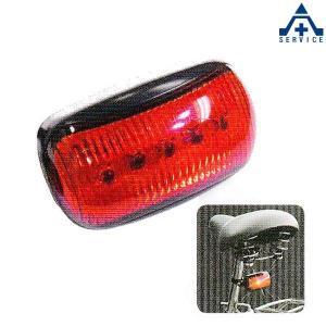 交通安全 自転車用ライト 5LEDリアライト (単4乾電池2本付)×5セット  |anzenkiki