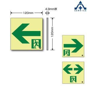 高輝度 蓄光 誘導標識 壁用 通路誘導 S200級 EPW-120-L  避難口誘導標識 非常口標識 通路誘導標識|anzenkiki