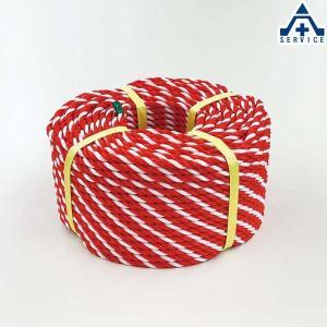 871-641 トラロープ (紅白ロープ)約9φ×100m 材質:ポリエチレン (メーカー直送/代引き決済不可)区画整理 バリケード 標識ロープ anzenkiki