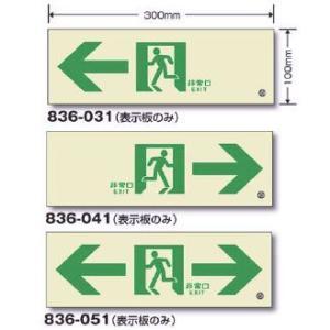 高輝度蓄光誘導標識 通路C200級 表示板のみ サイズ:100×300mm|anzenkiki