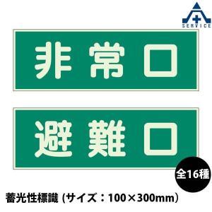 高輝度蓄光誘導標識 壁用 避難口 S200級200角|anzenkiki