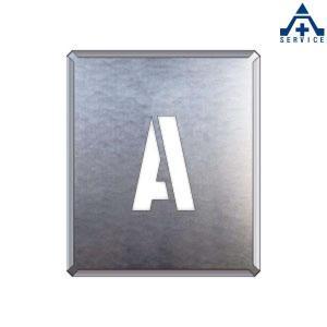 吹付け用プレート アルファベット 「A」349-12A  吹付プレート 吹き付け用プレート 工事用 工事現場|anzenkiki