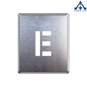 吹付け用プレート アルファベット 「E」349-16A  吹付プレート 吹き付け用プレート 工事用 工事現場|anzenkiki