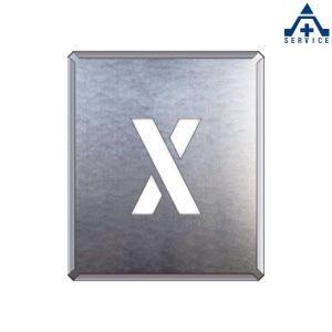 吹付け用プレート アルファベット 「X」349-38A  吹付プレート 吹き付け用プレート 工事用 工事現場|anzenkiki