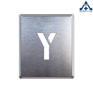 吹付け用プレート アルファベット 「Y」349-39A  吹付プレート 吹き付け用プレート 工事用 工事現場|anzenkiki
