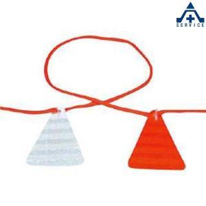 976 ロープ式ぴか三 (ぞう)長さ11.7m (メーカー直送/代引き決済不可)ロープ式デリネーター 反射材 工事現場|anzenkiki