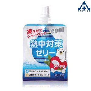 CN3518 熱中対策ゼリー ライチ味 (150g×24個入り)(メーカー直送/代引き決済不可)熱中症予防 工事現場 熱中症対策 作業員 塩分補給|anzenkiki