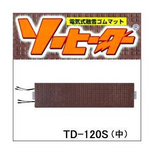 電気式融雪ゴムマット ソーヒーター TD-120S(中) 階段用|anzenkiki