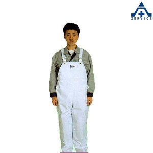 弘進ゴム クリーンパンツ 胸付ズボン S M L LL 3L  食品工場 厨房用 加工場 前掛け エプロン|anzenkiki