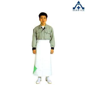 弘進ゴム 炊事胸なし前掛 (M L LL)ホワイト PVC 耐熱 耐摩擦 耐薬 耐油 抗菌 食品工場 厨房用 エプロン|anzenkiki