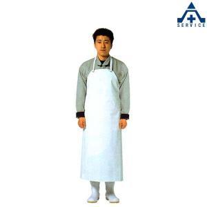 弘進ゴム 耐油胸付前掛 (S M L)ホワイト ブラック PVC 耐熱 耐摩擦 耐薬 耐油 抗菌 食品工場 厨房用 エプロン|anzenkiki
