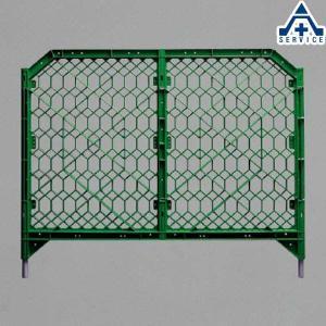 ディックフェンス 958-02 グリーン 本体 脚パイプ付 (メーカー直送/代引き決済不可)樹脂製ガードフェンス プラスチックフェンス 簡易フェンス 仮設フェン|anzenkiki