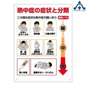熱中症標識 HO-313 熱中症の症状と分類...
