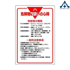 管理表示板 危険物取扱いの心得 808-41 (メーカー直送/代引き決済不可)工事現場 安全標識 掲示板 表示板|anzenkiki