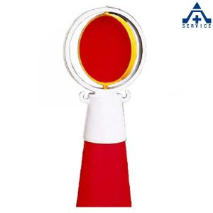 386-13 反射回転器クルピカコーン頭部用  工事現場 反射材 カラーコーン用 パイロン用|anzenkiki