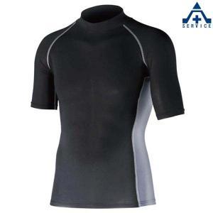 熱中症対策 グッズ ストレッチインナー 半袖ハイネックシャツ 3513-H |anzenkiki