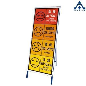 HO-5991 WBGT看板 (枠付き看板のみ)(メーカー直送/代引き決済不可)熱中症予防 工事現場 熱中症対策 作業員|anzenkiki