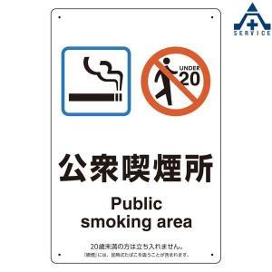 喫煙標識 803-241 「公衆喫煙所」 エコユニボード (300×200mm)  喫煙専用室標識 受動喫煙防止標識 JIS規格 安全標識 受動喫煙防止 健康増進法 喫煙場所表示|anzenkiki