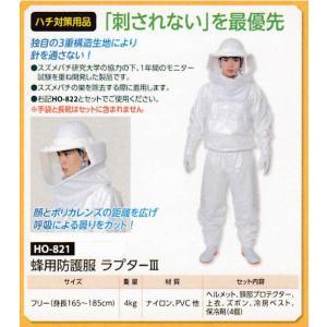 ハチ対策用品 蜂用防護服 ラプターIII HO-821 anzenkiki