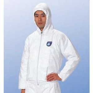 (デュポン/アゼアス) タイベックジャンパー フード付 2010B (防護服/保護服/作業服)|anzenmall