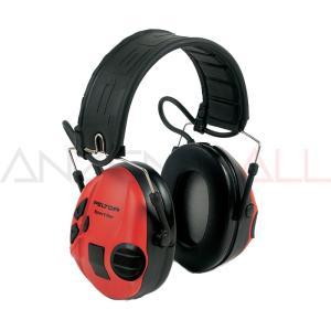 イヤーマフ 防音 スポーツタックレッド/ブラック ぺルター製 (遮音値/NRR21dB) 3M/PELTOR 耳栓 送料無料|anzenmall